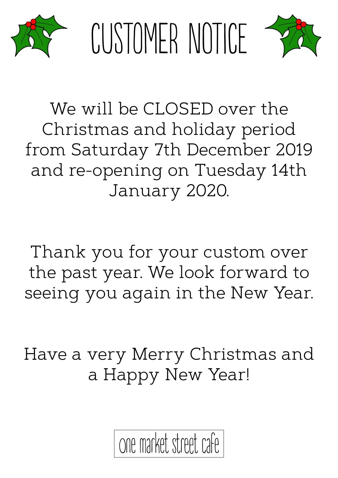 Closing sign 2019